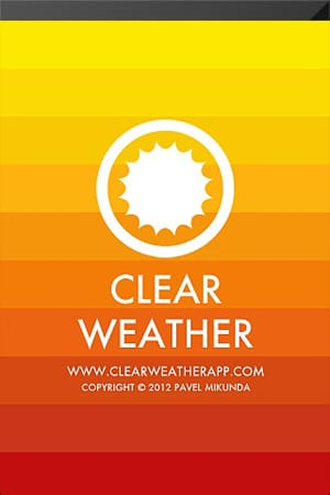 ClearWeather — Color forecast:色別で気温を表示!見やすいUIが特徴のお天気アプリ