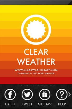 ClearWeather — Color forecast:色別で気温を表示!見やすいUIが特徴のお天気アプリ