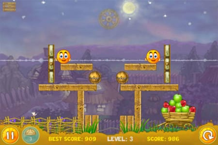 Cover Orange:酸性雨からオレンジを守れ!ピタゴラ装置が楽しいライトゲーム