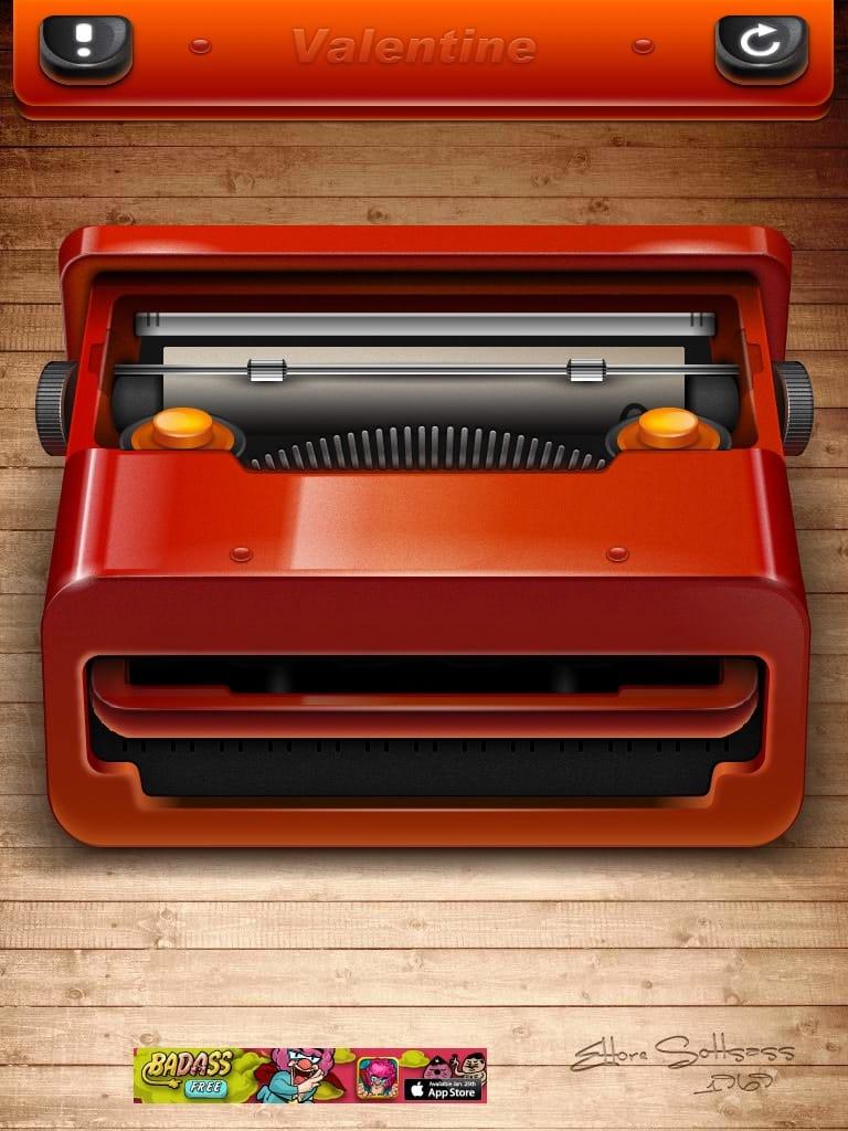 Red Valentine:美しいタイプライター型電卓アプリ!