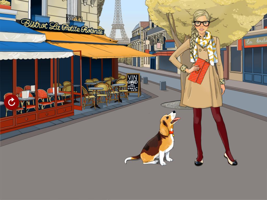 パリのお散歩 着せ替えゲーム:オシャレにコーディネートしてパリジェンヌを作ろう!