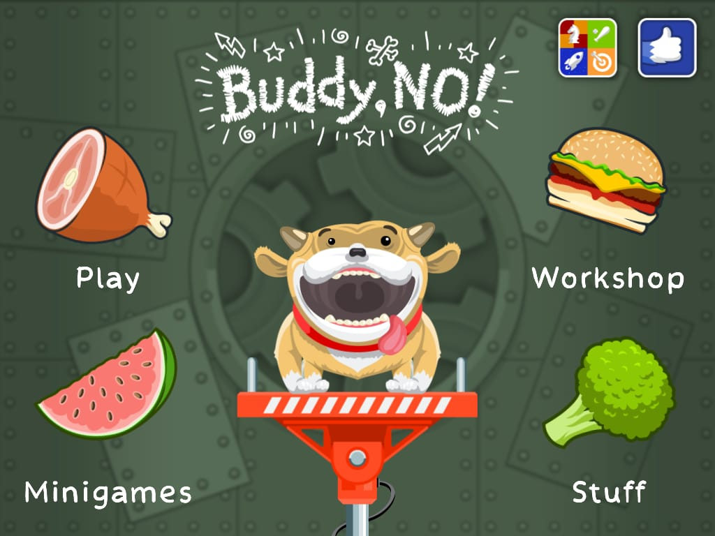 Buddy, No!:可愛いイングリッシュブルドッグに食べ物を!!