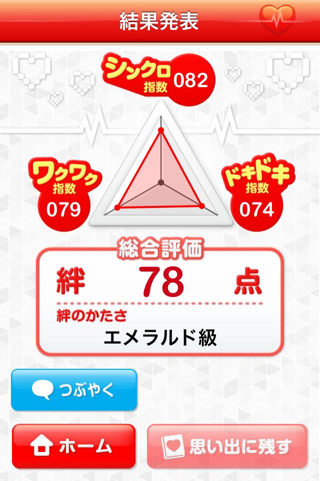 絆チェッカー:恋人同士の愛の絆を確認できるiPhoneアプリ