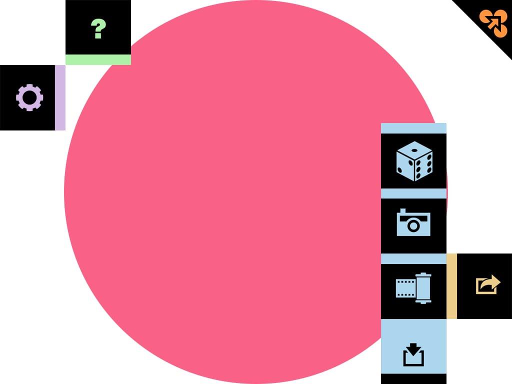 分ける:ドットで遊んだり、モザイクを作ったり、面白アプリ。
