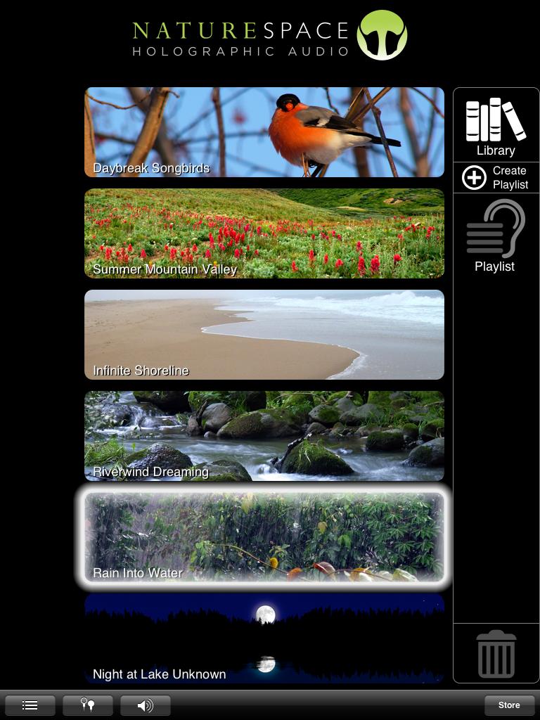 Naturespace: 本当の癒しココにあり。3D音で自然の世界へ