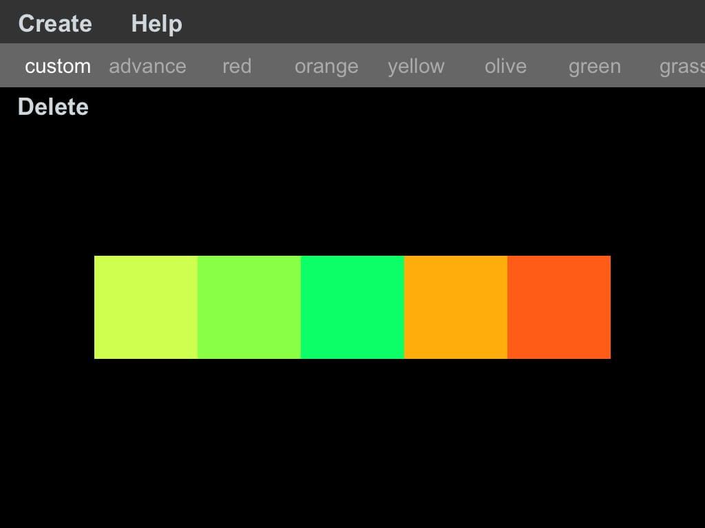 Color Design:色の組み合わせを考えてくれる、アプリ♪