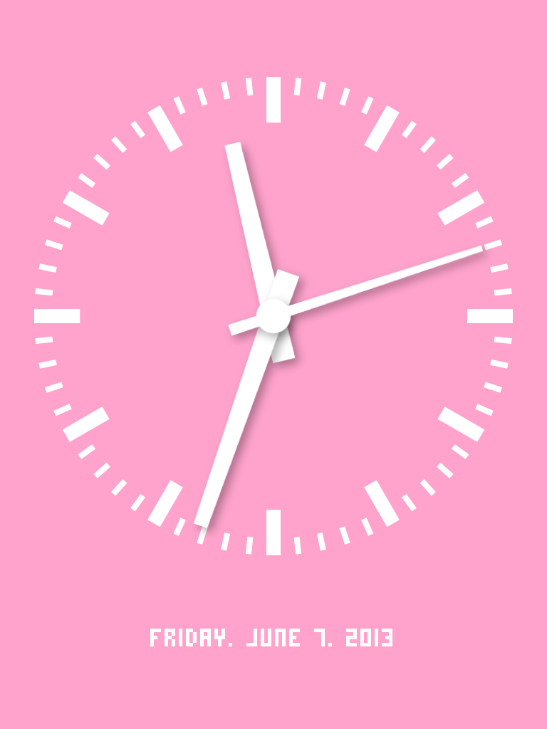 Audio Clock:デザイン重視時計。60種類以上にのぼる美しい時計