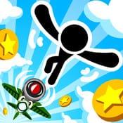 飛んでコイン:簡単アクションゲームがはまる!あなたは何枚のコインを集められますか?