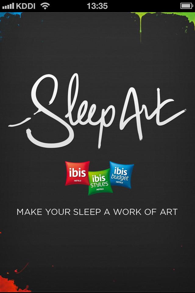 ibis Sleep Art:寝ている間に、アートを作る。