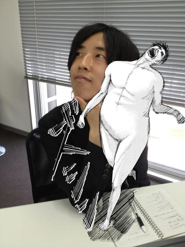進撃の巨人 デジタルフォトステッカー:おなじみの「ズシ」や巨人を写真に貼れる面白いアプリ!