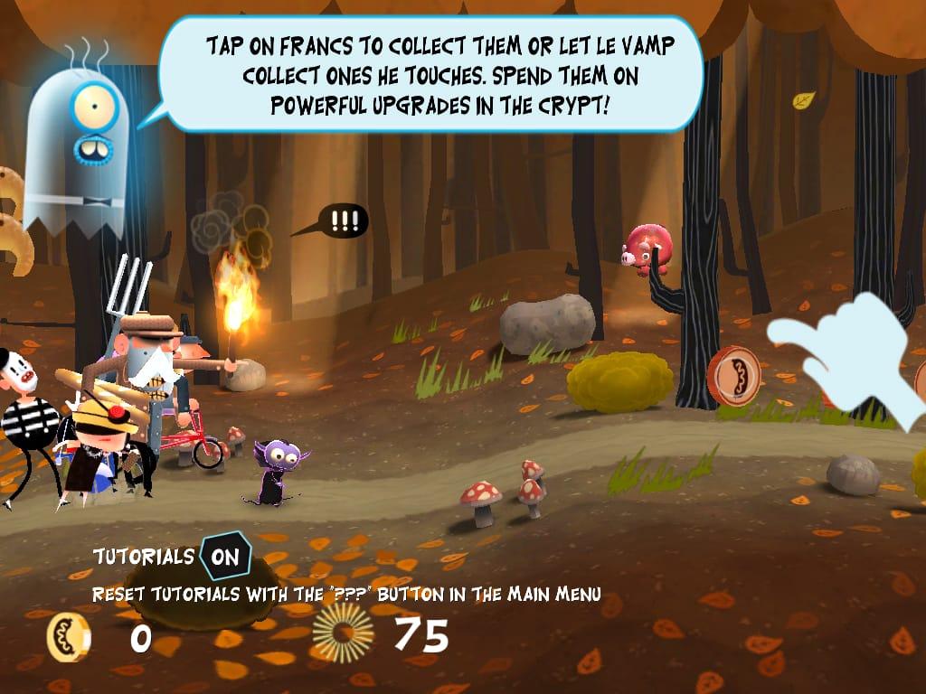 Le Vamp:幼いやんちゃなLe Vamp。素早いフリックとタップで敵から彼を守ってあげて!!