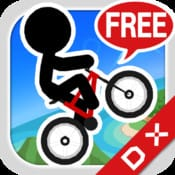 大人気iPhoneゲームアプリ「チャリ走DX」が基本無料に!!85円の製品版と全く同じコンテンツが楽しめる!
