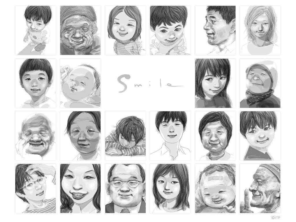Smile by Inoue Takehiko:『SLAM DUNK』『バガボンド』『リアル』を手掛けた井上雄彦の「Smile」イラストギャラリー時計