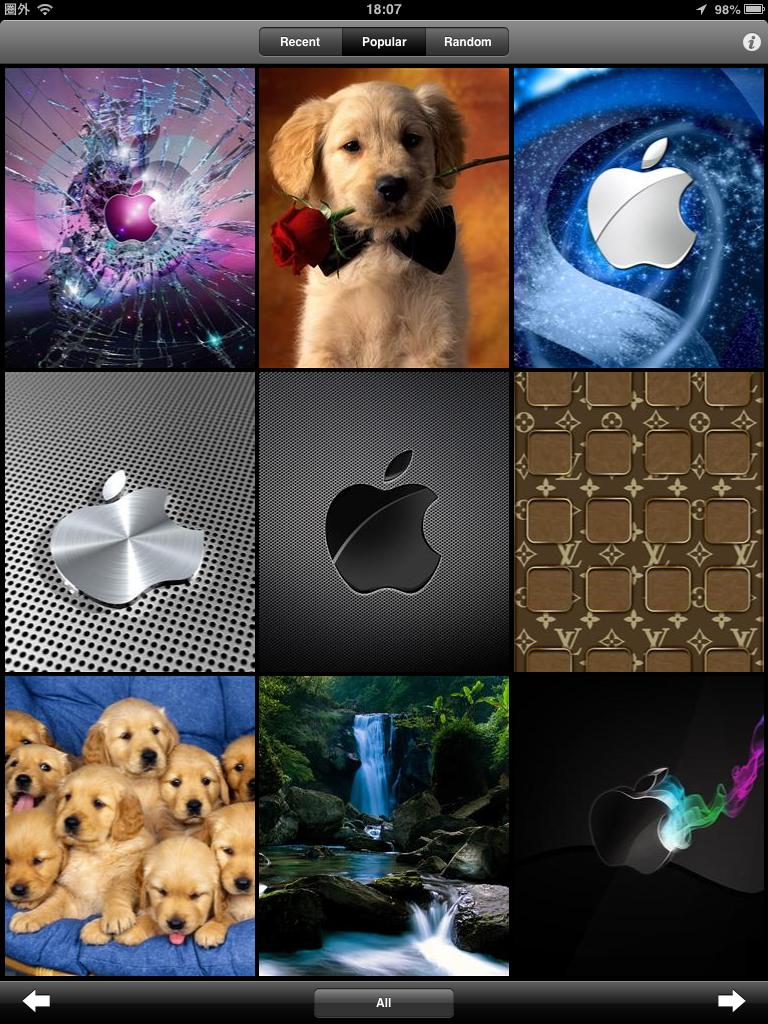 Wallpapers HD for iPhone, iPod and iPad:おしゃれな壁紙をダウンロードし放題!!
