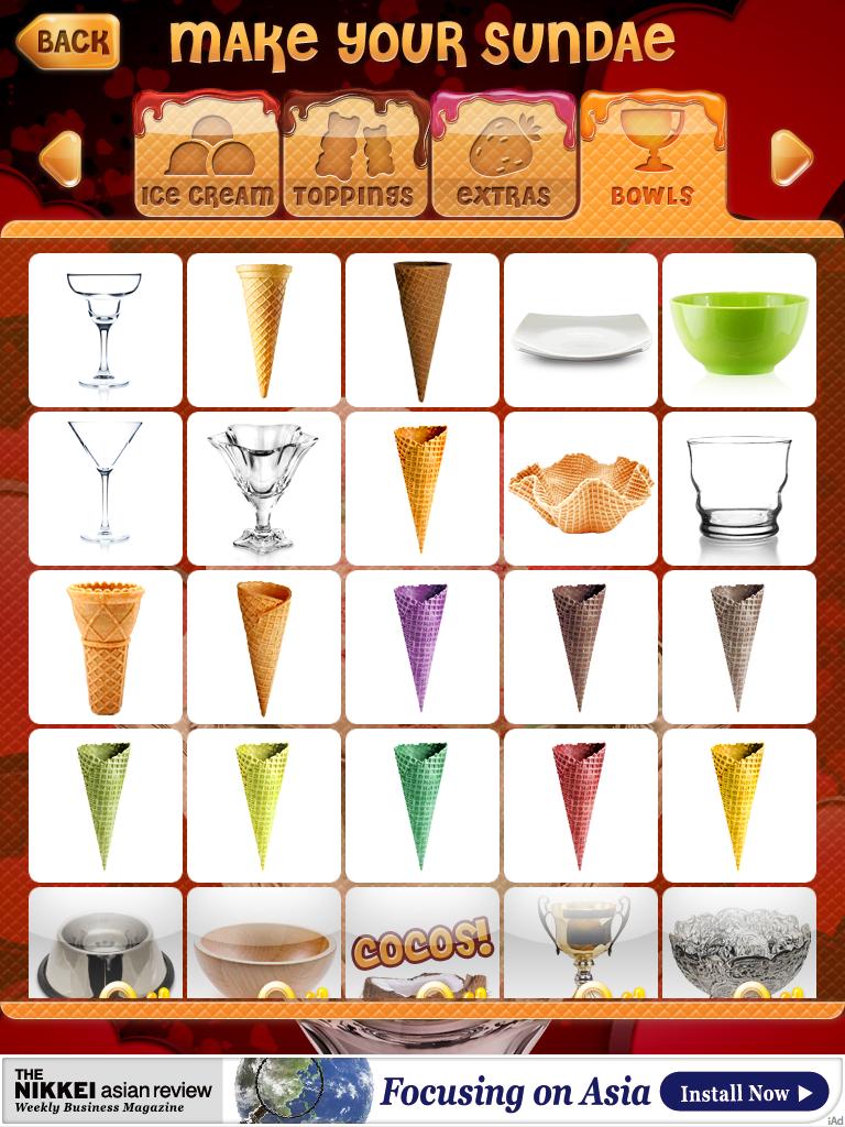 アイスクリームサンデー:デコデコキラキラサンデーを自分で作ろう!!