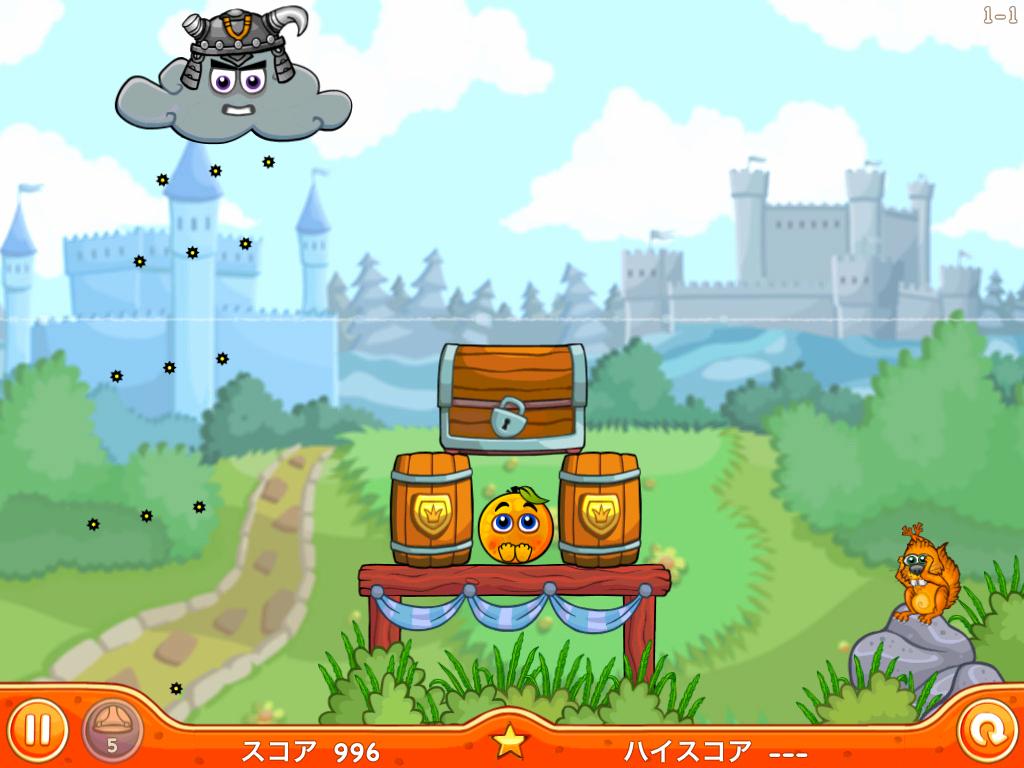 Cover Orange 2:世界で大人気!!!オレンジを酸性雨から守る、iPhone、iPad のオススメ頭脳ゲーム!!