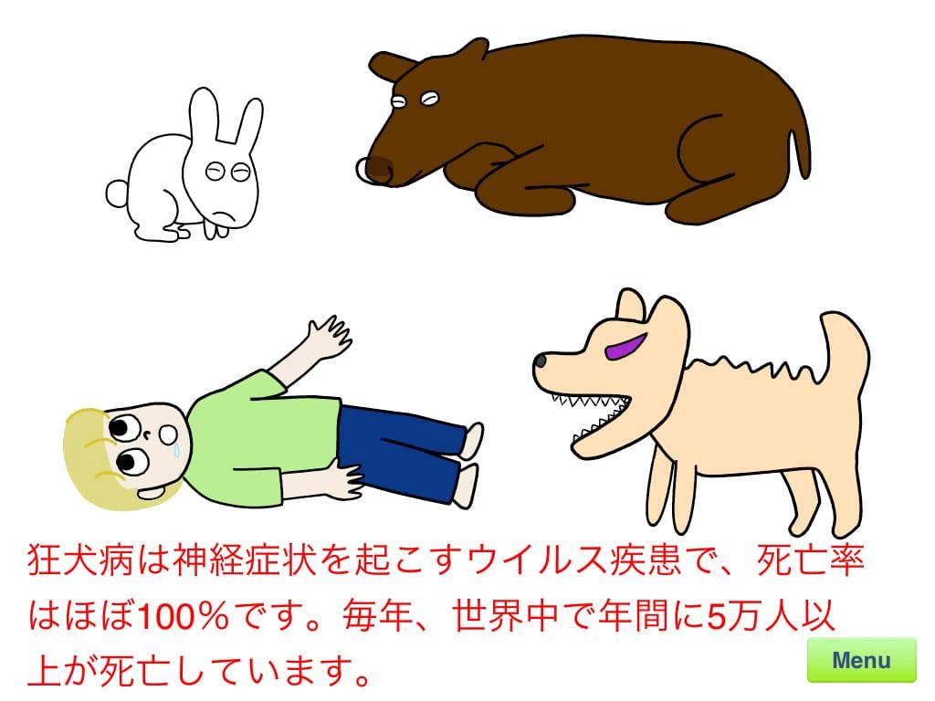 狂犬病の説明:飼い主になられる方必読。狂犬病についてのお勉強。