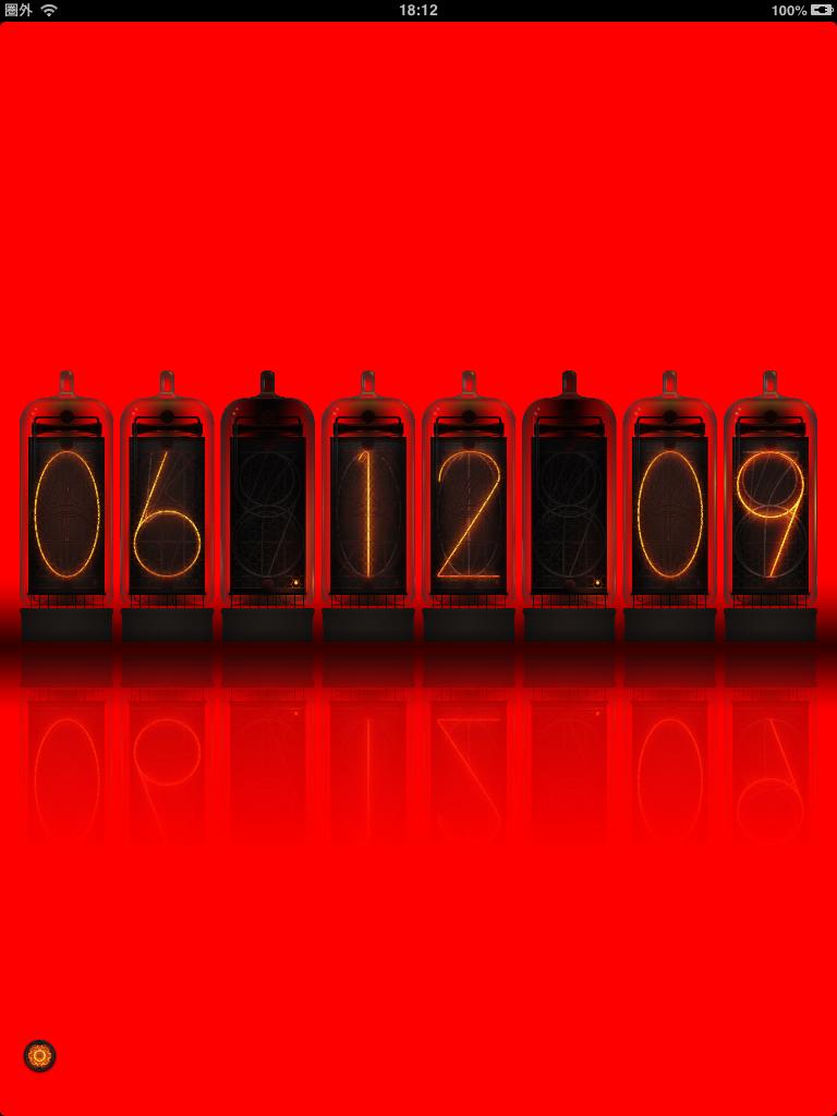 Colorful Nixie Clock:しゃれおつな時計をお探しの方にオススメ。ニキシー管時計