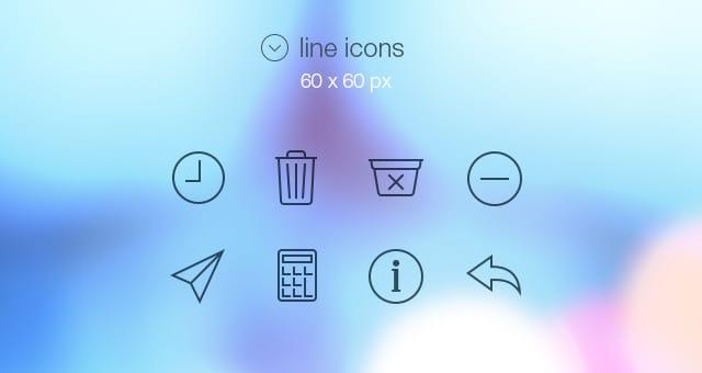 【デザイン】iOS7で使用されているアイコンを完全再現した「Tab Bar Icons」シリーズが最高な件【無料素材】