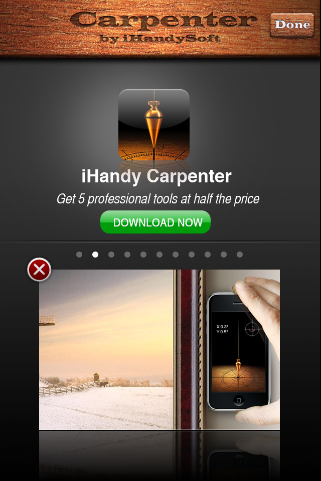 iHandy レベル Free(iHandy Level):いざという時のお助けツールリアル「水平器」アプリが便利