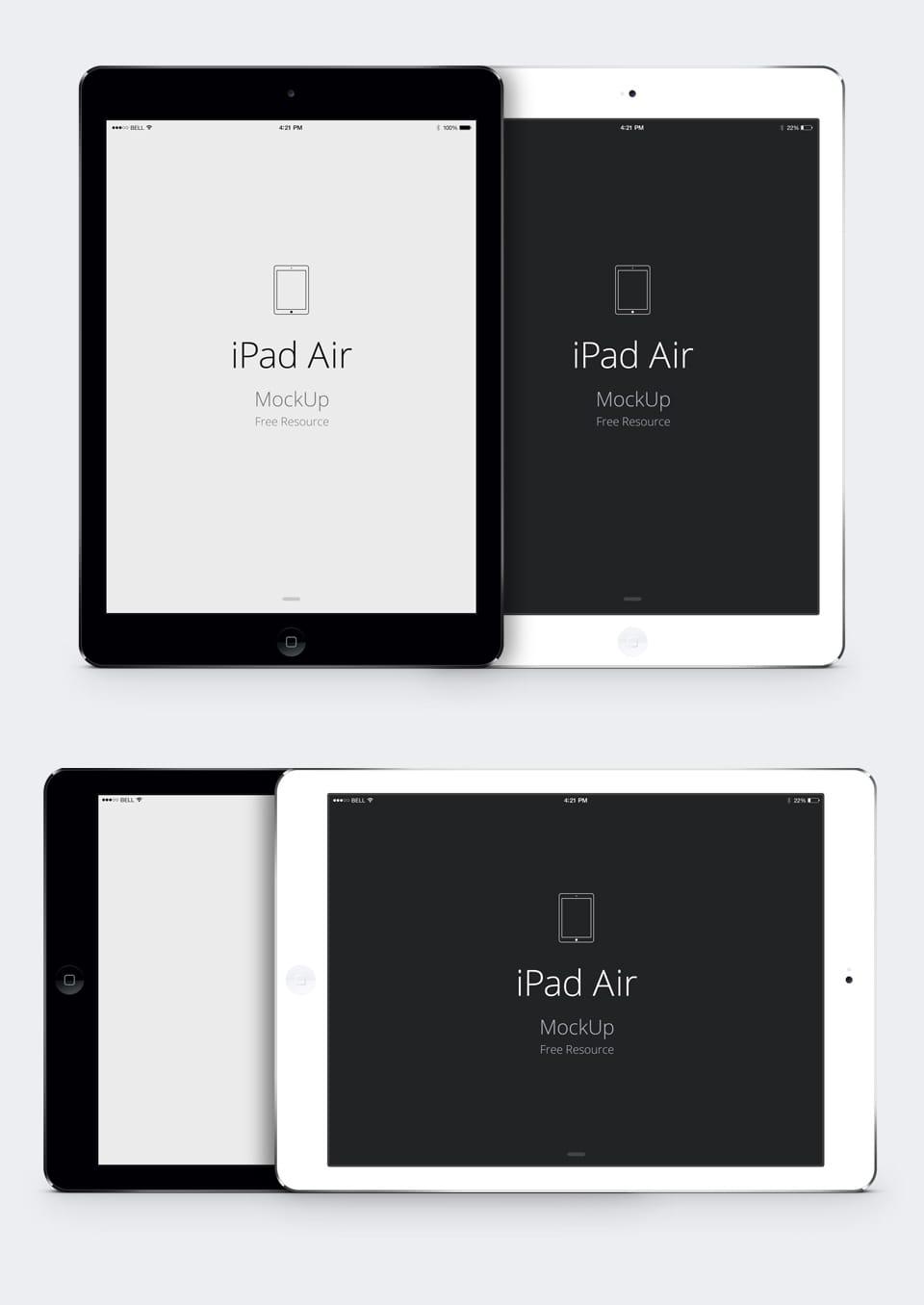 【デザイン】iPad Airの超リアルphotoshopデータを無料でダウンロードしよう!フラット版やiPad miniも