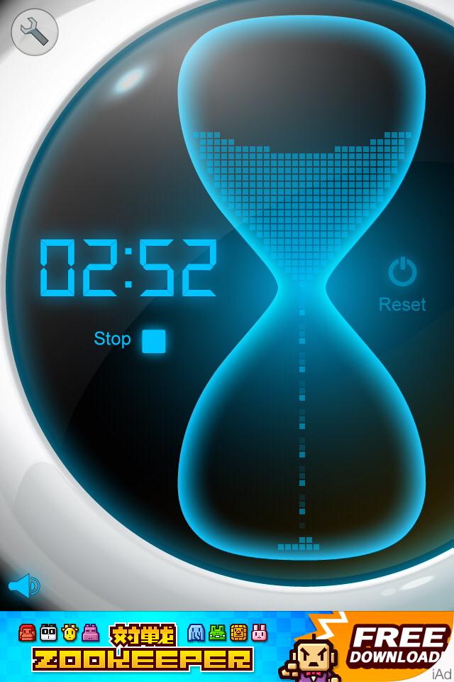 タイマー [Best Timer]:デジタルなのにアナログっぽい??スタイリッシュ砂時計