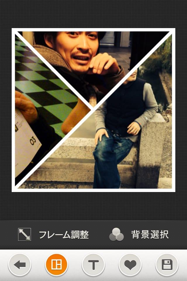Moldiv ×Tamu:おっしゃれ~なコラージュアプリ。複数枚の写真を様々な形のフレームで一つに♪♪