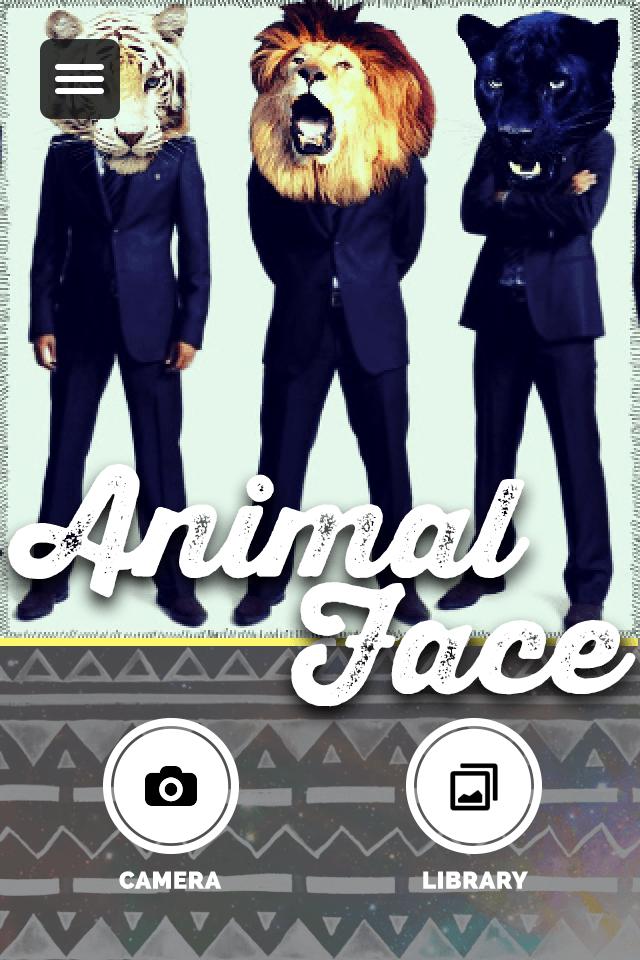 Animal Face×まさし:面白くって、なんだかおしゃれなカメラアプリ♪友達みんなで楽しんじゃおう。