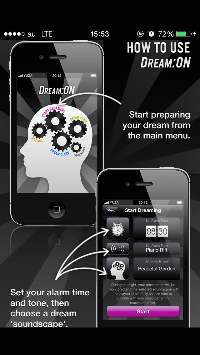 Dream:ON:iPhoneで見る夢をコントロールできる話題のアプリ使ってみた【無料】