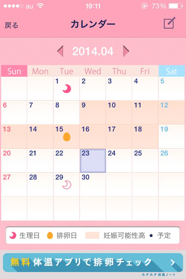 【ルナルナLite】生理・排卵日がチェックできる女性向けiPhoneアプリレビュー_6
