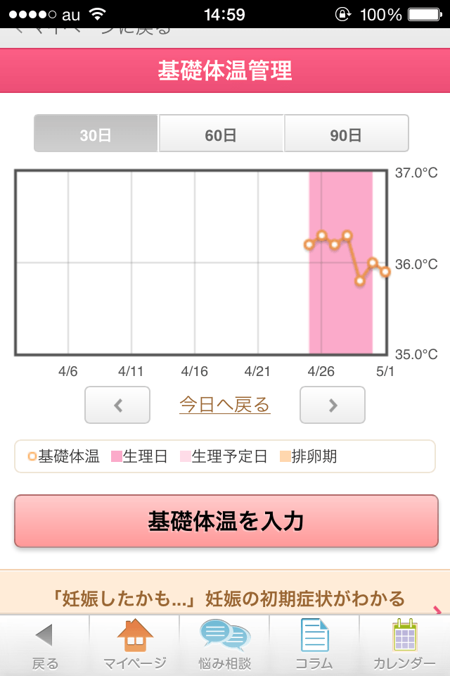 【生理日予測】ラルーン:ルナルナとどっちが良い!?女子向けiPhoneアプリ