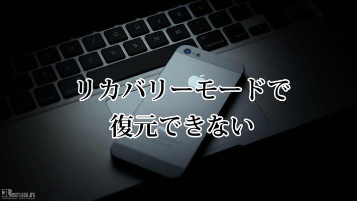 iPhoneのリカバリーモードで復元できない場合はこうしよう!