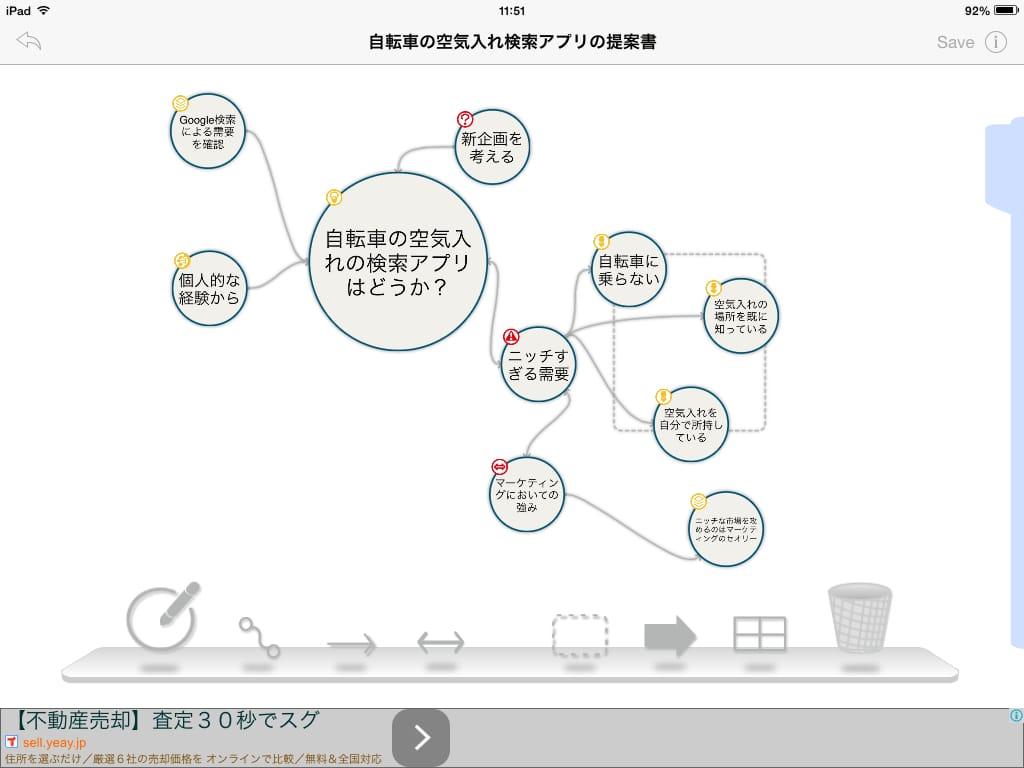 BrainPlots(ブレインプロッツ):iPadを劇的なビジネスツールにするマインドマップアプリ12