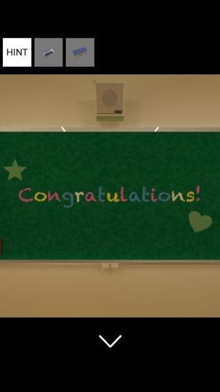 「脱出ゲーム 卒業式後の教室からの脱出」無能がはじめるゲームアプリ攻略 Vol.1