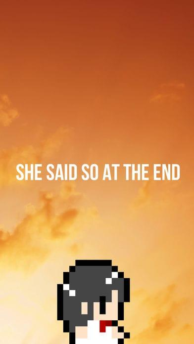彼女は最後にそういった