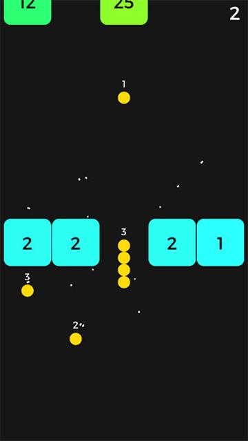 球を拾って、ブロックを壊せ!縦スクロール脳トレゲーム「Snake VS Block」