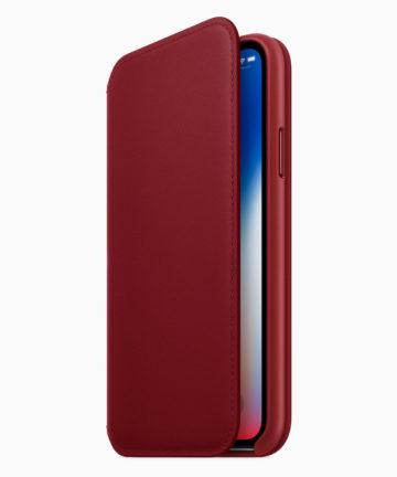 (PRODUCT)RED iPhone Xレザーフォリオも発表