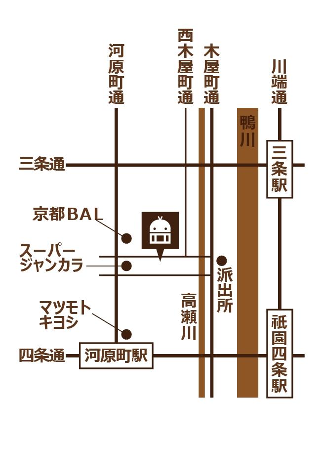 THE VR ROOM KYOTOへのアクセス
