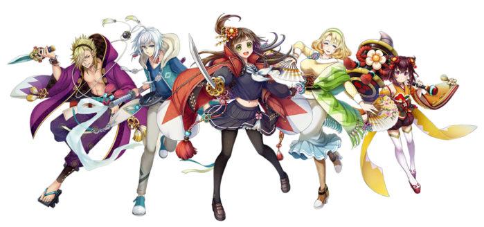 ゲーム内には登場するのは現代和風の魅力的なキャラクターたち!