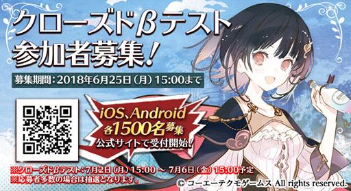 『アトリエ オンライン』が7月2日からクローズドβテストを3,000名限定で実施予定!