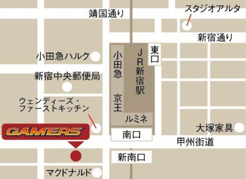 BanG Dream!(バンドリ!)オフィシャルコラボストア in ゲーマーズ新宿店MAP