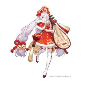 神器使い「ミーラ」の衣装「煌めく祝福の音」