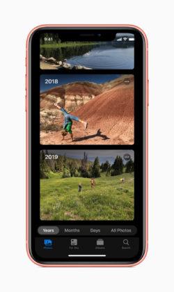 カメラアプリに新オプション