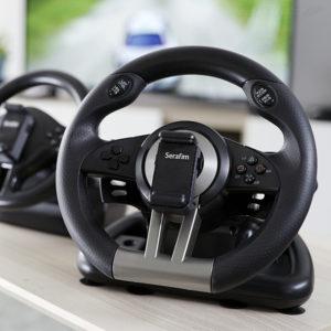 クラウドファンディングで話題の世界初 「ゲーム機・スマホ・PC対応」高性能ハンドルコントローラー「Serafim R1」「Serafim R1+」販売開始